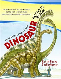 The Wonders of God's World Dinosaur Activity Book 9780890515150 by Earl and Bonita Snellenberger