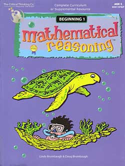 Mathematical Reasoning Beginning 1 9780894558863 by Critical Thinking Company