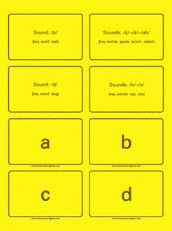 The Basic Phonogram Cards by All About Reading