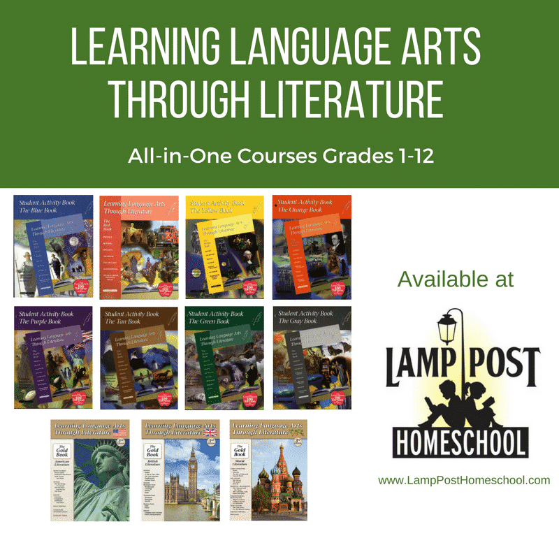 Learning Language Arts Through Literature All-in-One Courses for Grades 1 to12.