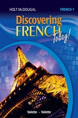 Go to Discovering French Level 1 by Holt McDougal HMH