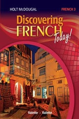 Go to Discovering French Level 3 by Holt McDougal HMH